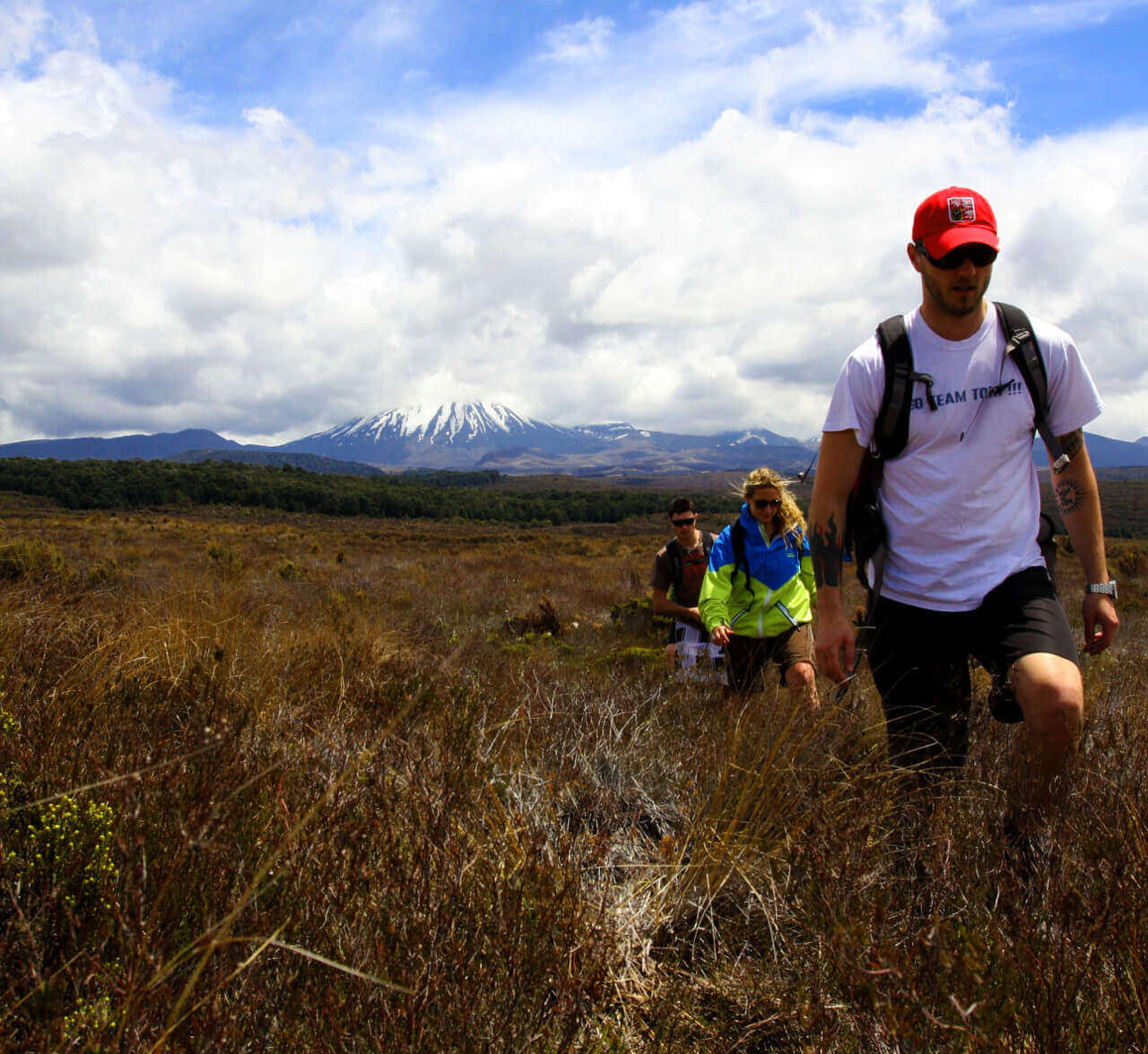 Hiking in the Tongariro National Park